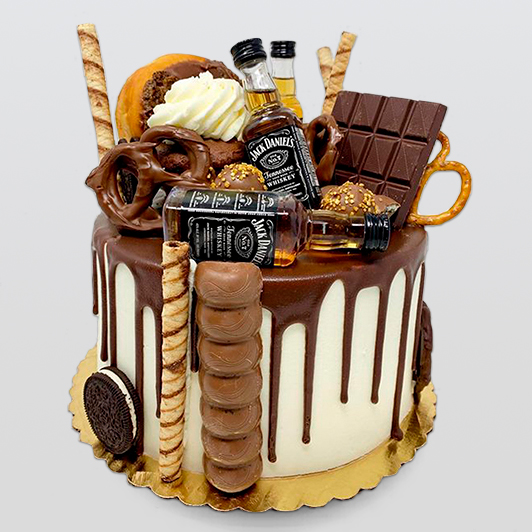 Jack daniel and chocolate overload cake