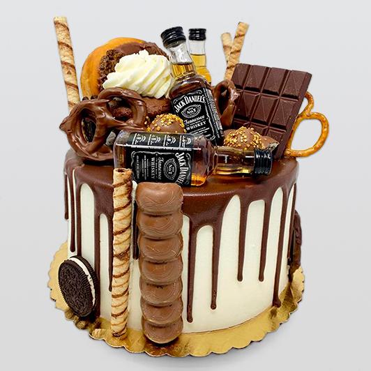 Jack daniel and chocolate overload cake