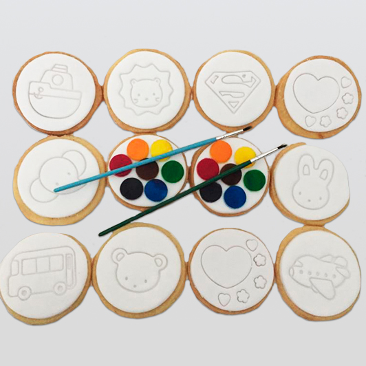 cookies with painting kit
