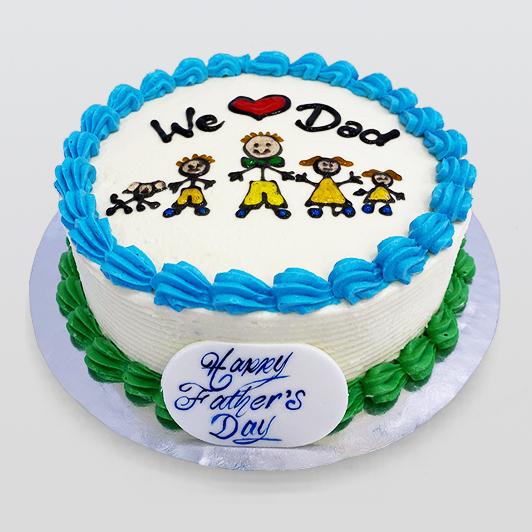 fathers day celebration cake
