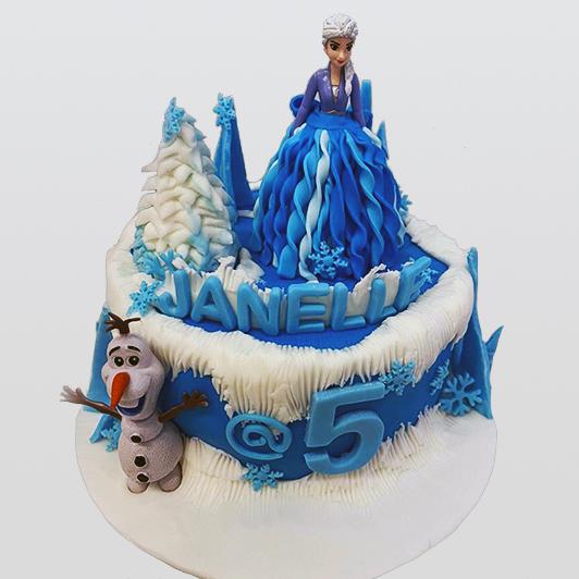 Frozen Elsa cake design