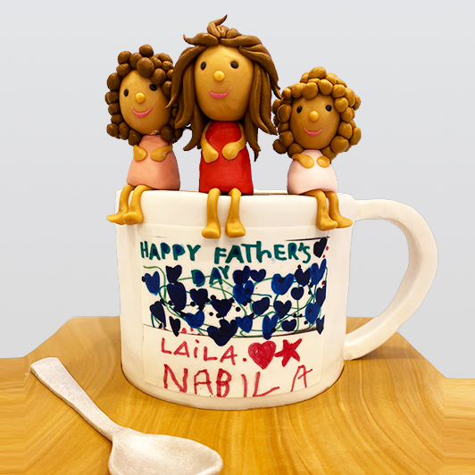happy fathers day on coffee mug