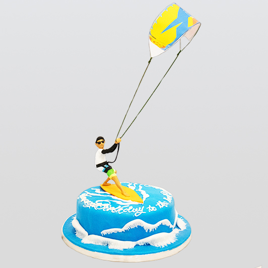 kite surfer birthday cake