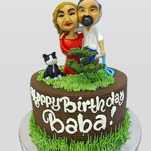 Mr and mrs baba birthday cake