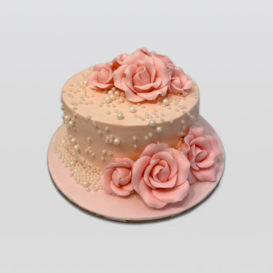 Roses with Pearls Cake