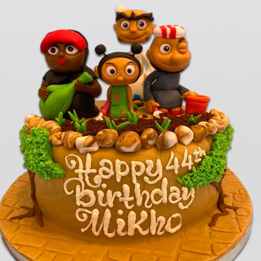 Shaabiyat Al Kartoon birthday cake
