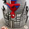 spiderman with nys skyline cake