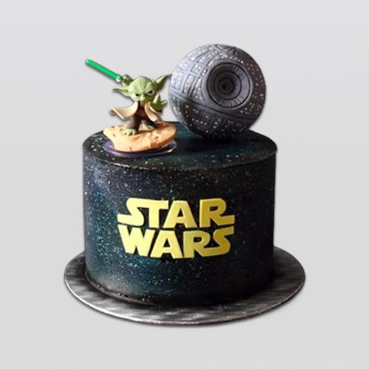 star wars and yoda cake