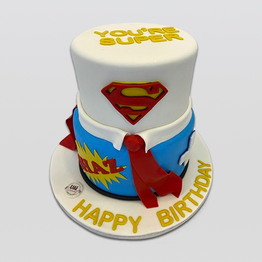Superdad birthday cake