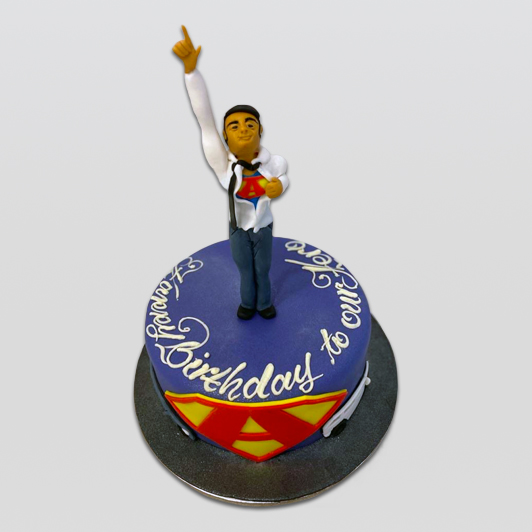 Superman cake for him
