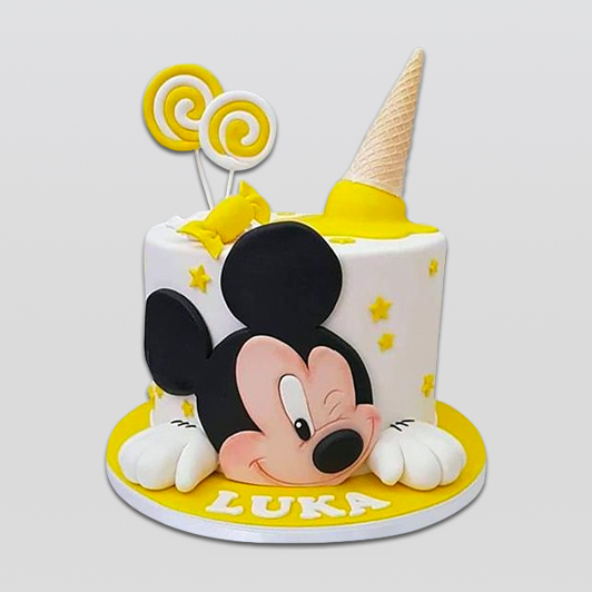 Mickey Mouse Yellow Cake
