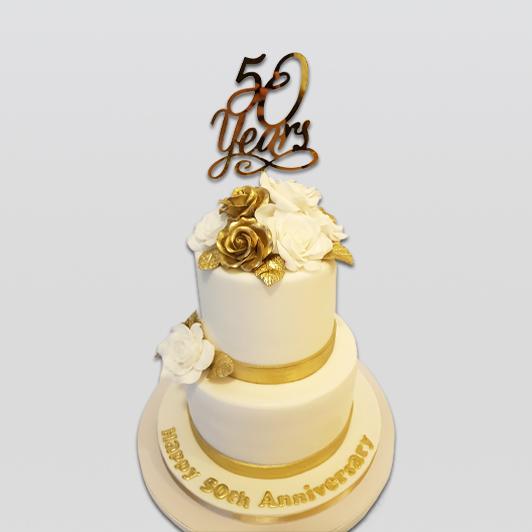 Happy aniversersay 2 tier cake