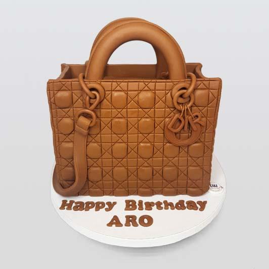 Dior handbag cake design
