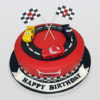Cars racing birthday cake