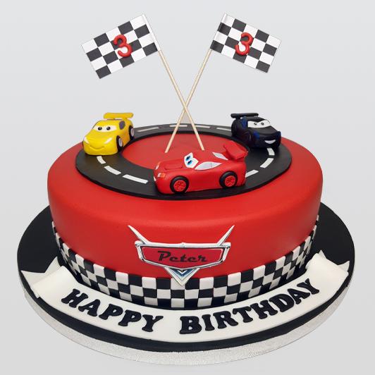 care racing track cake