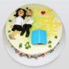 anniversary couple cake
