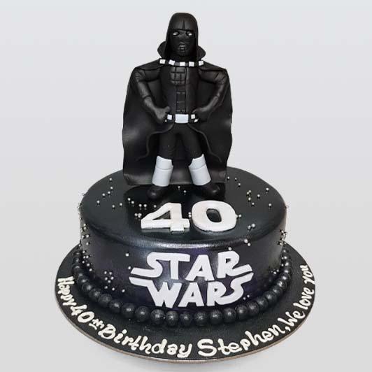 Star wars Darth Vader black cake