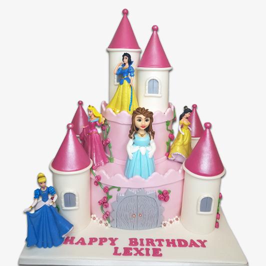 Disney princesses castle Cake