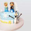 Frozen, Elsa, Anna and Olaf theme cake