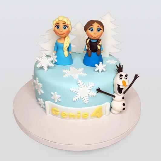 Frozen, Elsa, Anna and Olaf birthday cake