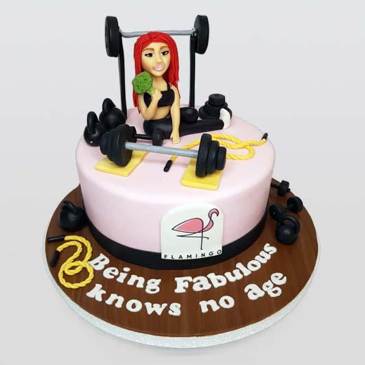 Gym style cake