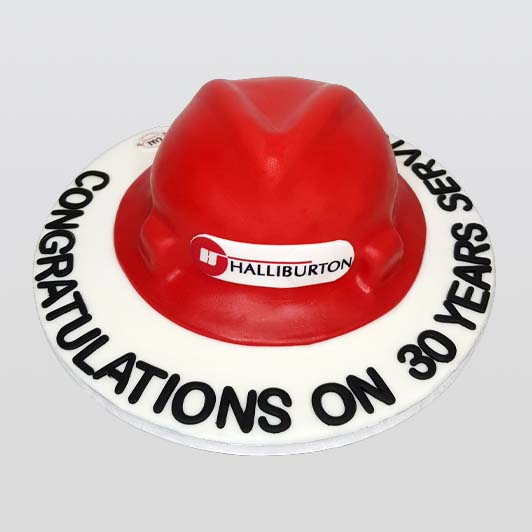 Helmet shaped cake