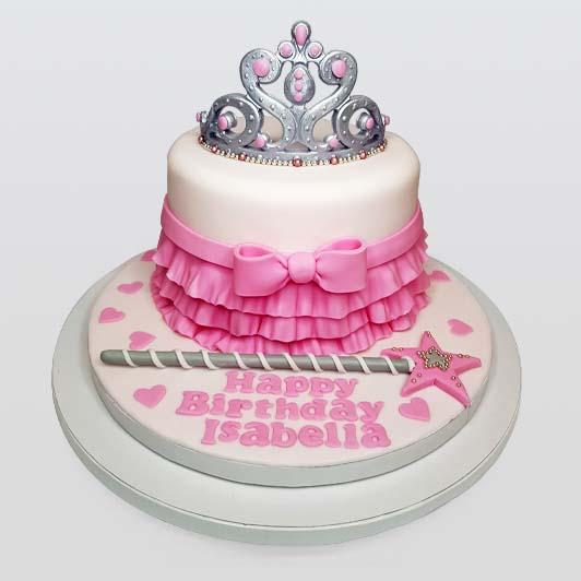 Princess Tiara Wand Cake