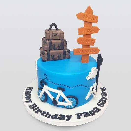 birthday travel cake