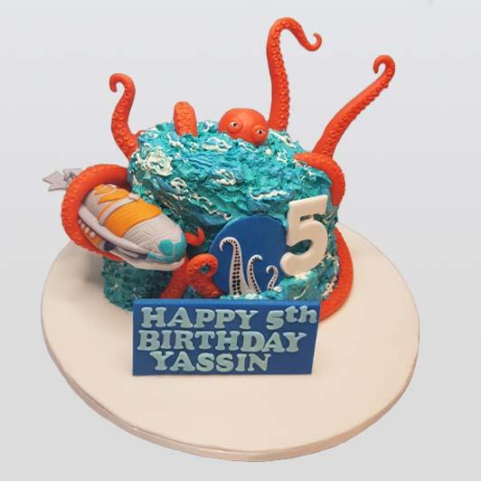 kraken kids cake