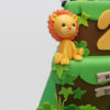 animal party jungle cake