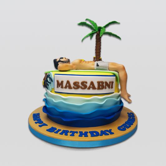 beach tanning cake