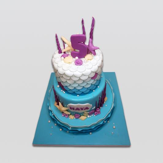 Mermaid Cake 2 tier