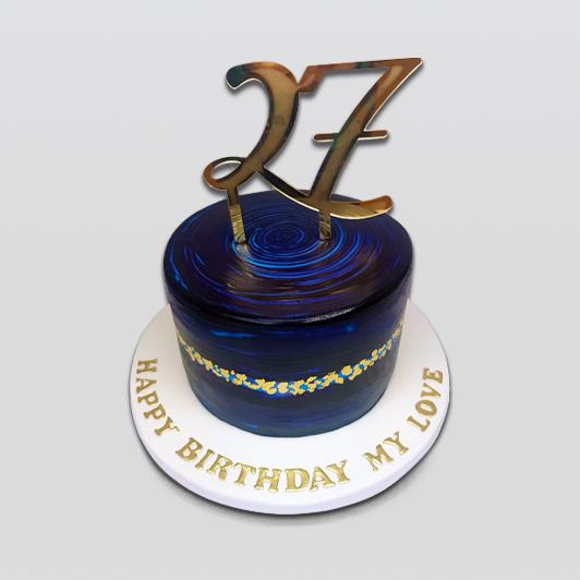 Galaxy Night Birthday Cake