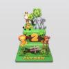 birthday jungle cake