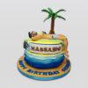 sun tanning cake