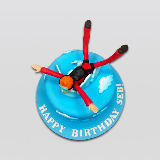 Skydive theme cake