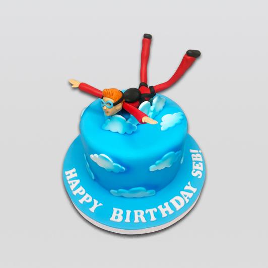 skydiving theme cake