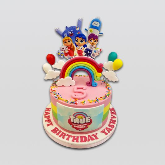 True and the Rainbow Kingdom Cake