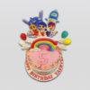 True Rainbow Kingdom birthday cake